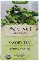 Numi Organic Savory Tea Spinach Chive, 12 Tea Bags